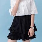 Layered Chiffon Mini Skirt 1596