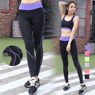 Contrast Trim Yoga Pants 1057215717