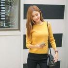 Cutaway-Shoulder Knit Top 1596