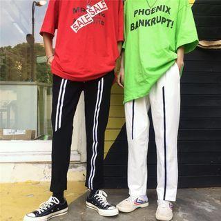 Contrast Trim Sweatpants 1068080925