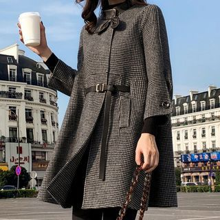 Houndstooth Button-up Coat