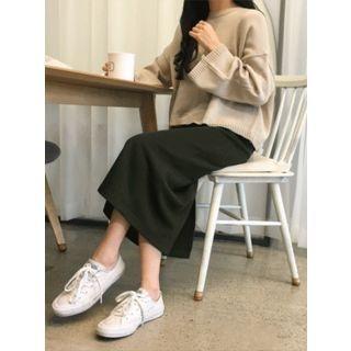 Band-Waist Long H-Line Skirt 1064469545
