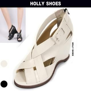 Buy Holly Shoes Strap Wedge Pumps 1022284291