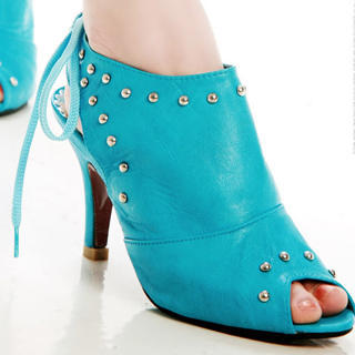 Buy Kvoll Studded Peep-Toe Sandals 1022464080