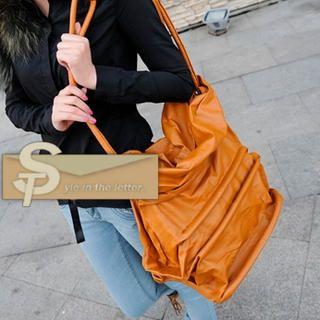 Oversized Panel Shoulder Bag