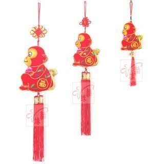 Lunar New Year Monkey Tasseled Hanging Ornament