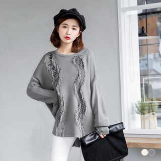 Dropped Shoulder Knit Sweater 1056847643