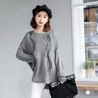 Dropped Shoulder Knit Sweater 1596