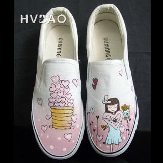 Picture of HVBAO All Hearts Slip-Ons 1019927920 (Slip-On Shoes, HVBAO Shoes, Taiwan Shoes, Womens Shoes, Womens Slip-On Shoes)