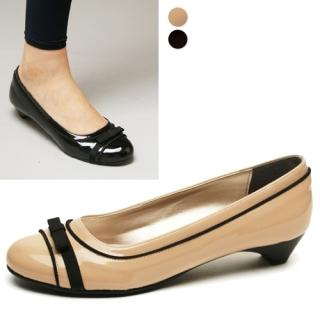 Buy HOBAK girls Bow Detail Patent Flats (Heels 3cm) 1021355177
