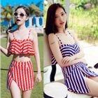 Set: Printed Bikini Top + Swim Skirt 1596