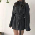Long-Sleeve Turtleneck Mini Dress 1596