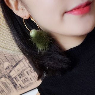 Pom Pom Hoop Earring 1063103971