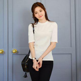 Short-Sleeve Ribbed T-Shirt 1057975950