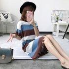 Short-Sleeve Striped Knit Dress 1596