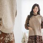 Dual-Pocket Sleeveless Wool Blend Knit Top 1596