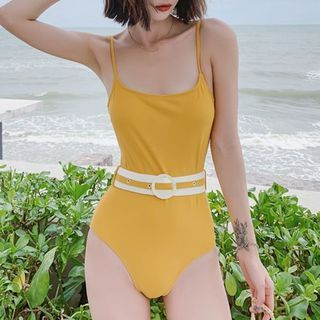 Image of Belted Swimsuit