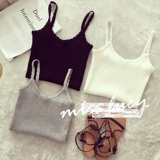 Ribbed Knit Tank Top 1049675664