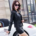 Set: Faux-Leather Jacket + Top + Pencil Skirt 1596