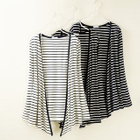 Striped Open Front Cardigan 1596