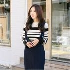 Striped Slim-Fit Ribbed Knit Top 1596
