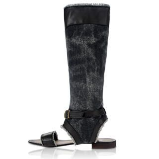 Buy tictak Knee-High Buckled Denim Sandals 1023065995