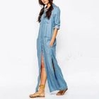 Denim Maxi Dress 1596
