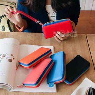 Contrast-Color Long Wallet