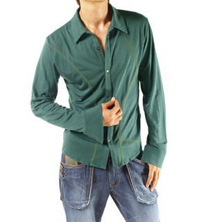Picture of Purplow Buttoned Green T-Shirt 1004594782 (Purplow, Mens Tees, Korea)