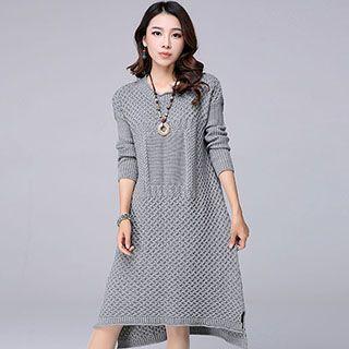 Long-Sleeve Sweater Dress 1046593496