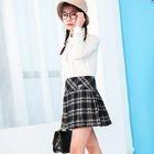 Pleated Plaid Skirt 1596