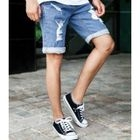 Drawstring-Waist Roll-Up Hem Denim Shorts от YesStyle.com INT