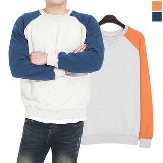 Raglan-Sleeve Color-Block Sweatshirt 1056069587