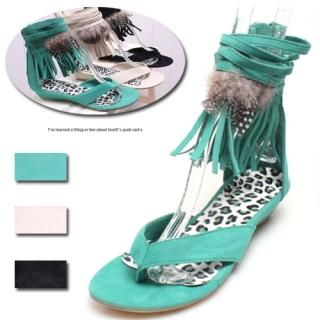 Buy Woorisin Feather-Detail Thong Sandals 1022576817
