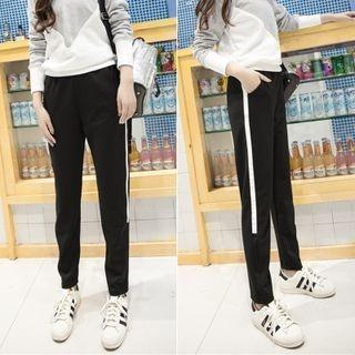 Contrast Color Sweatpants 1049655061