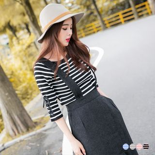 Stretch Ribbed Knit Sweater 1057277320