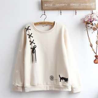 Image of Cat Paw Print Pullover