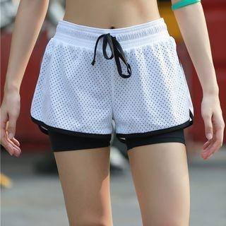 Drawstring Mesh Sport Shorts 1058213804