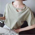 Cutout Short-Sleeve T-Shirt 1596