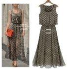 Dotted Sleeveless Dress 1596
