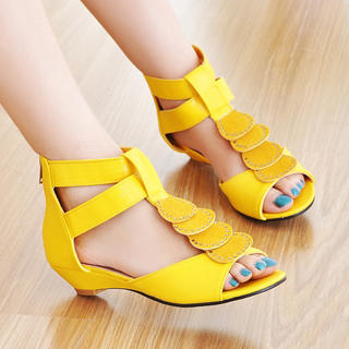 Buy KAWO Rhinestone Kitten-Heel Sandals 1022917252
