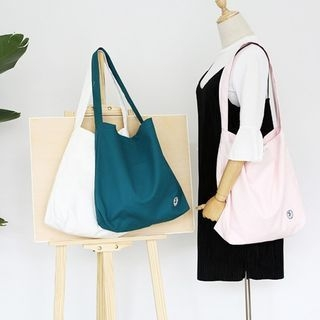 Patch Embroidered Canvas Tote Bag 1059816420