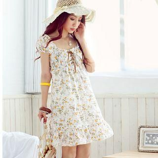 Buy Tokyo Fashion Lace-Up Floral Dress 1022732034