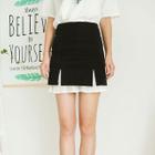Paneled A-Line Skirt 1596