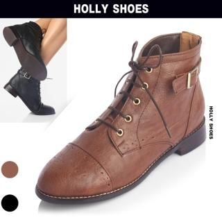 Picture of Holly Shoes Lace-Up Ankle Length Boots 1023020007 (Boots, Holly Shoes Shoes, Korea Shoes, Womens Shoes, Womens Boots)