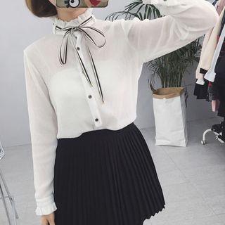 bow-neck-blouse