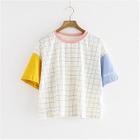 Short-Sleeve Check T-Shirt от YesStyle.com INT