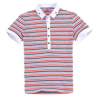 Buy Justyle Short-Sleeve Striped Polo Shirt 1022740834
