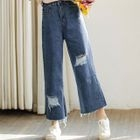 Cropped Wide Leg Jeans 1596