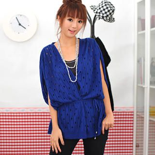 Picture of 59 Seconds Distressed Long Cardigan Royal Blue - One Size 1022755468 (59 Seconds Apparel, Womens Outerwear, Hong Kong Apparel, Hong Kong Outerwear)